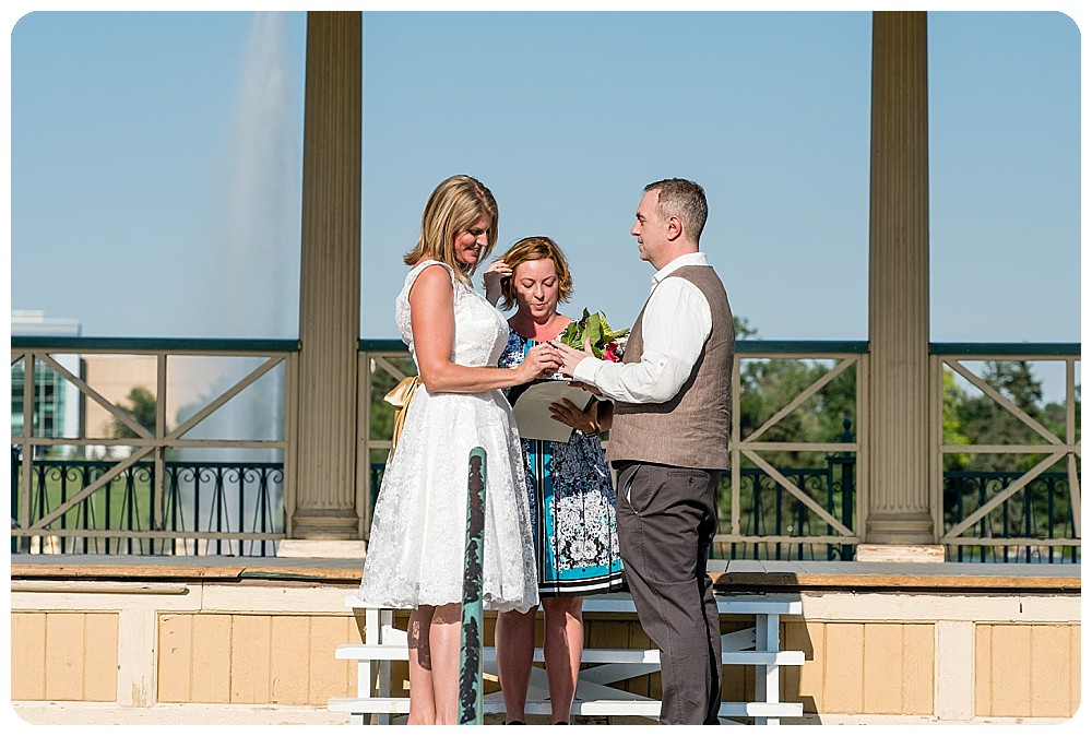 City Park Pavilion Wedding Ceremony in Denver