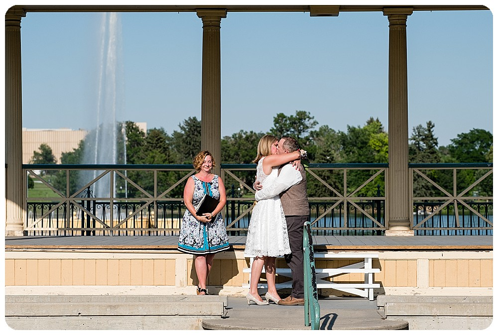 City Park Pavilion Wedding Ceremony by Rayna McGinnis Photography
