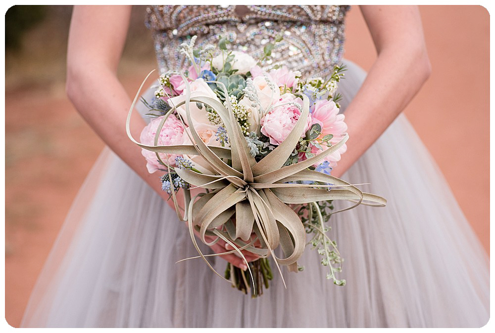 Airplant wedding bouquet by Bella Calla.