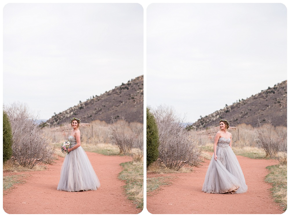 Colorado Desert Elopement Photography at Red Rocks Park