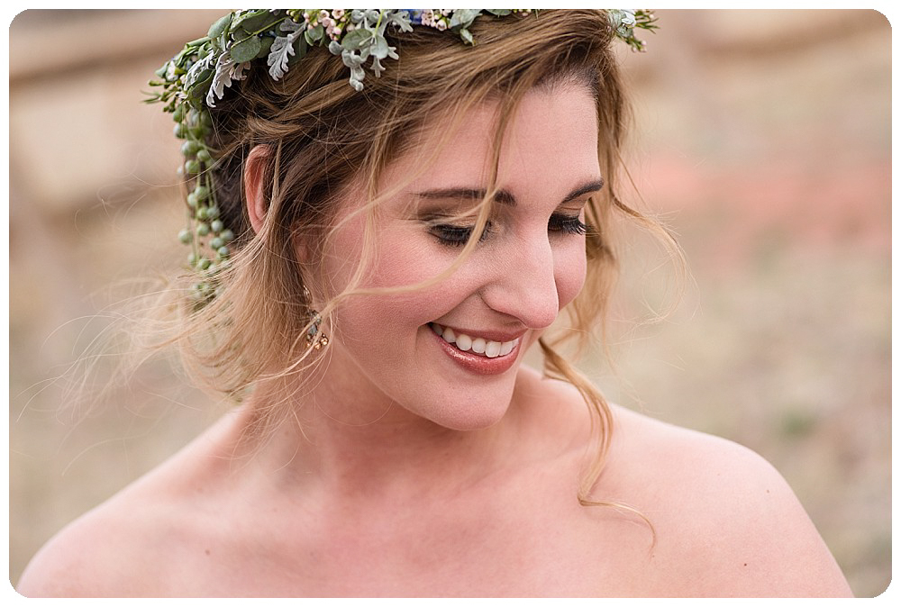 Hair and make up at Colorado Desert Elopement