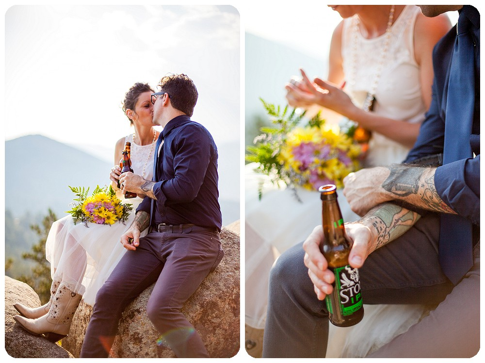 Toast at Colorado Mountain Elopement