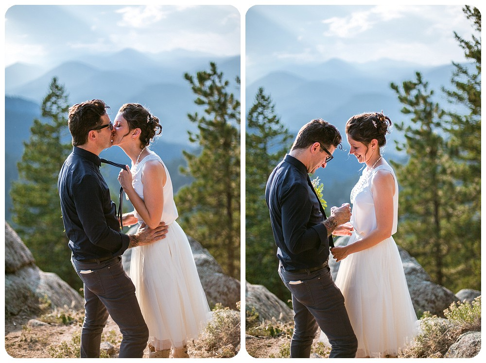 Colorado Mountain Elopement Couples PHotos