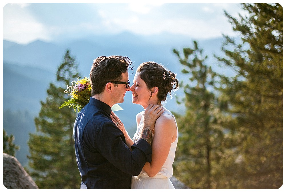Colorado Mountain Elopement on Flagstaff Mountain