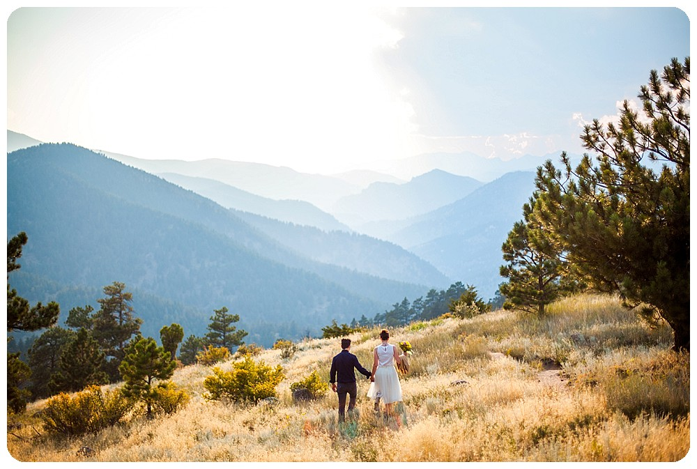 Colorado Mountain Elopement on Flagstaff Mountain in Boulder