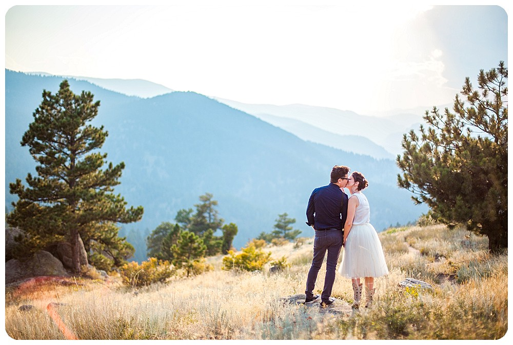 Colorado Mountain Elopement on Flagstaff Mountain in Boulder, Colorado
