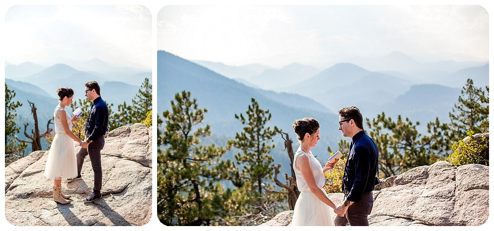 Colorado Mountain Elopement Ceremony
