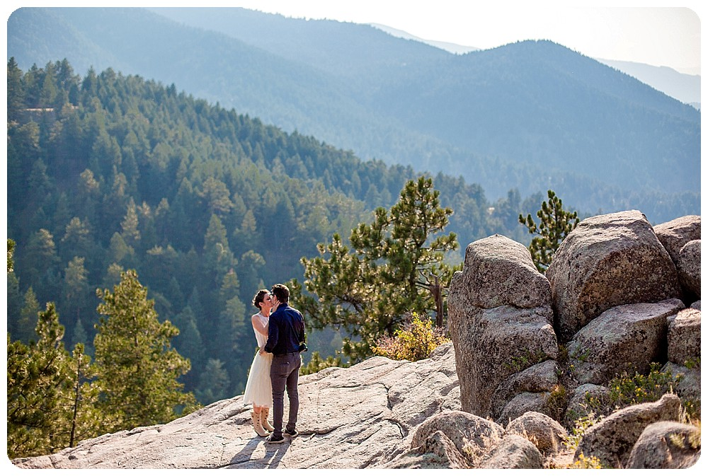 Colorado Mountain Elopement Ceremony in Boulder Colorado