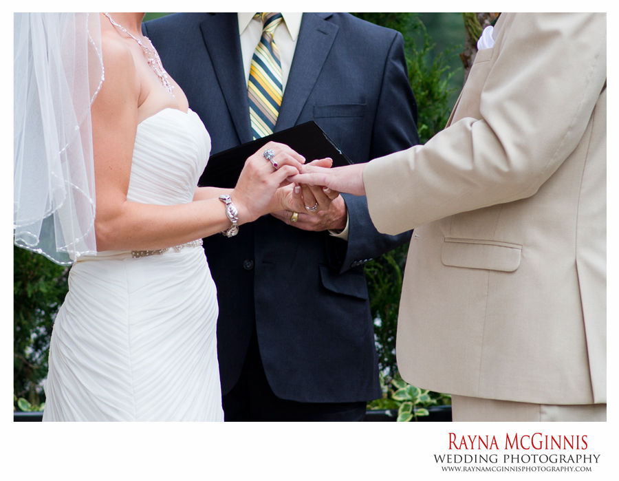 Ring Exchange during wedding ceremony at Ameristar Casino