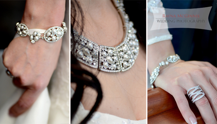 Bridal jewelery at Flagstaff House Wedding by Rayna McGinnis