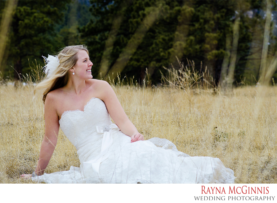 Bridal Portraits at Elk Meadow Open Space in Evergreen Colorado