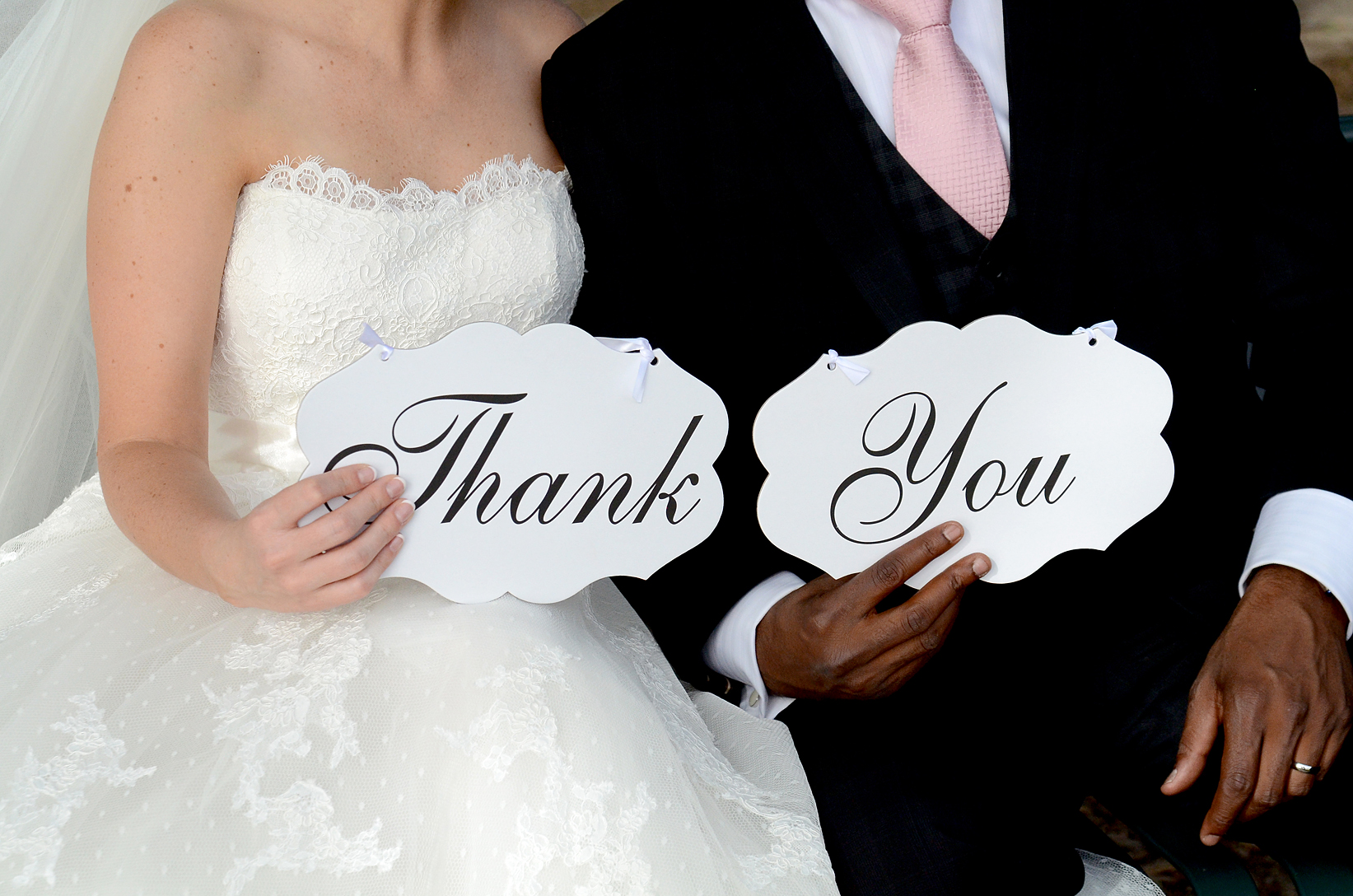 Bride and Groom Thank you signs