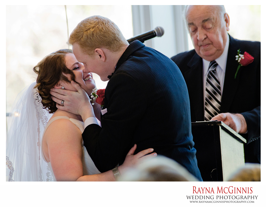 First Kiss at Wedding in Broomfield, Colorado