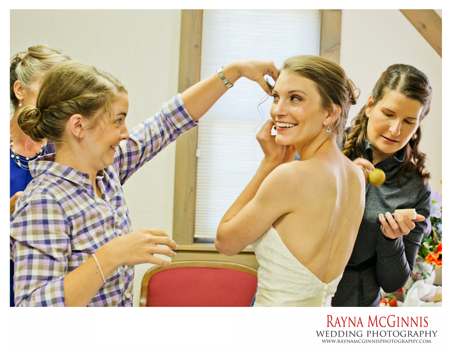 Bride getting ready at meadows at Marshdale