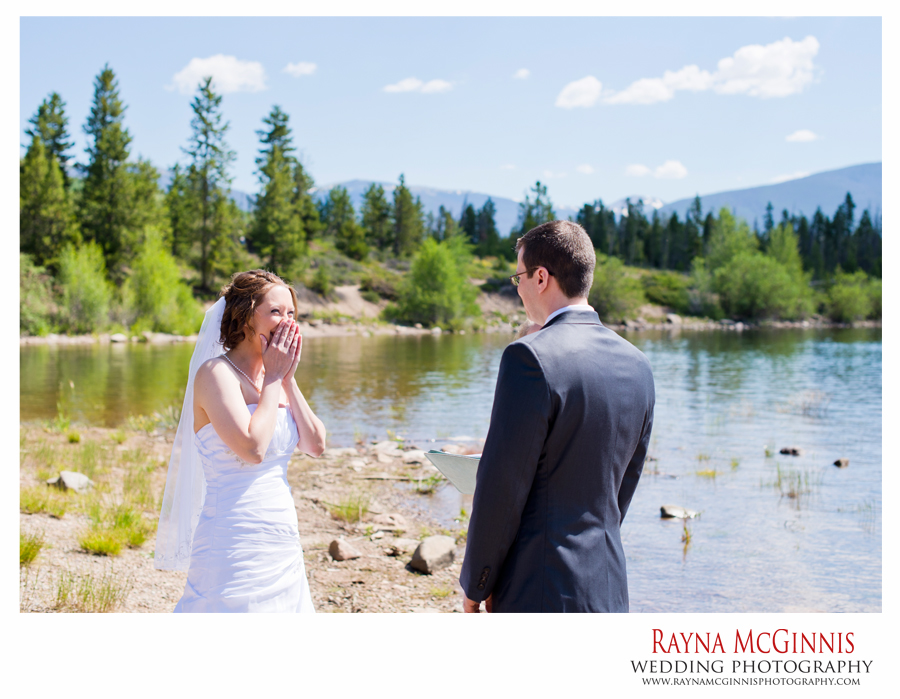 Elopement Ceremony at Lake Dillon