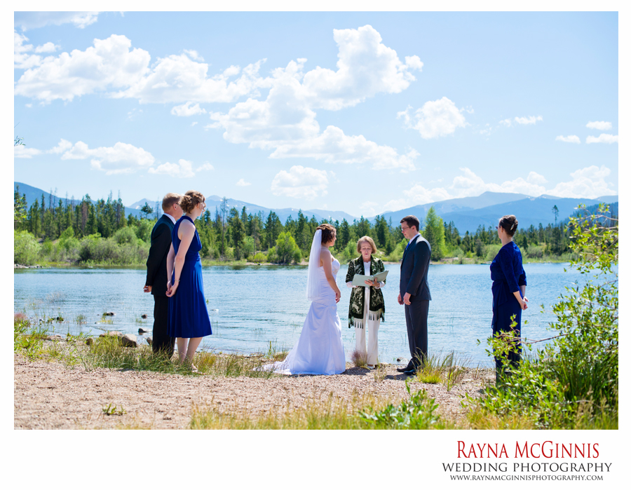 Elopement Ceremony at lake Dillon in Colorado