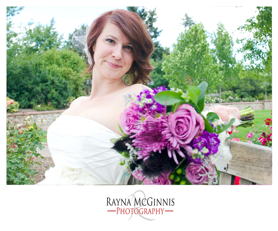 Bride and Bouquet at Hudson Gardens Event Center