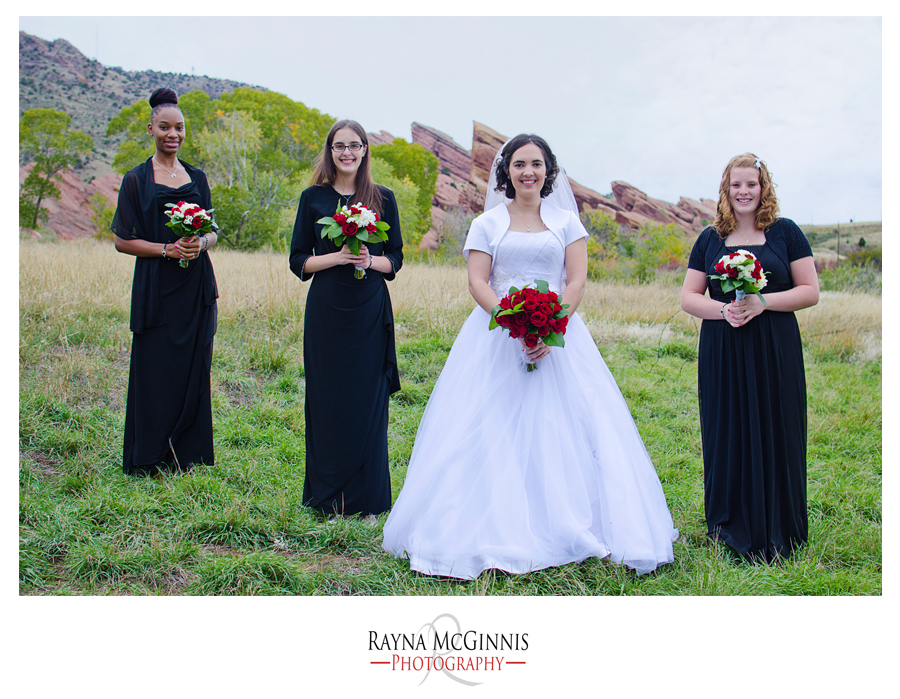 Bridesmaids at Red Rocks