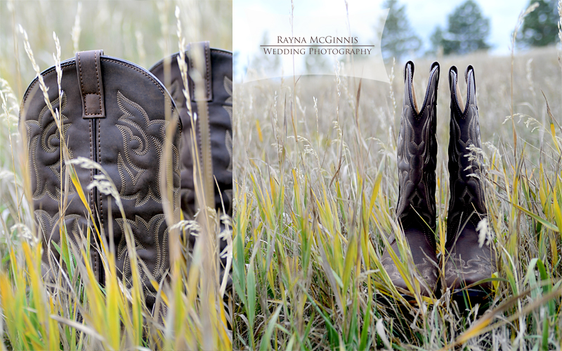 Cowgirl boots for Spruce Mountain Wedding