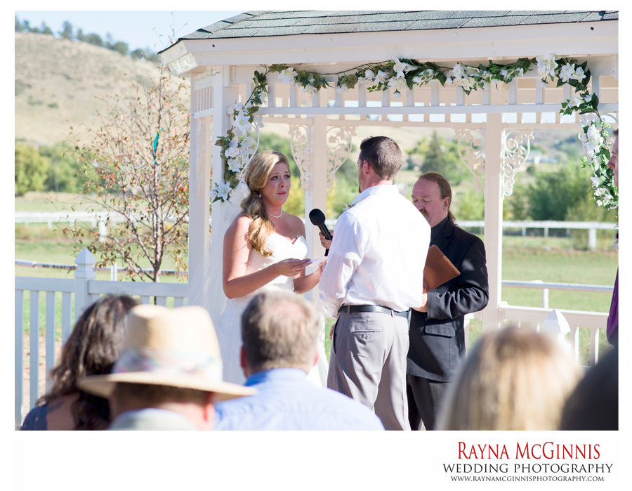 Ellis Ranch Wedding Photography of Bride saying vowels