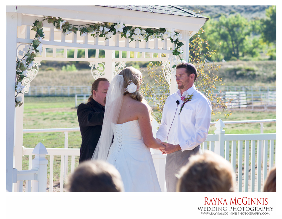 Wedding Ceremony at Ellis Ranch