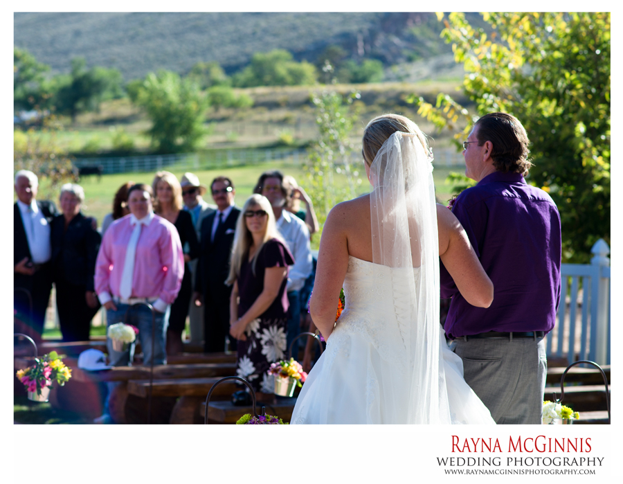 Bride Walking down the aisle at Ellis Ranch