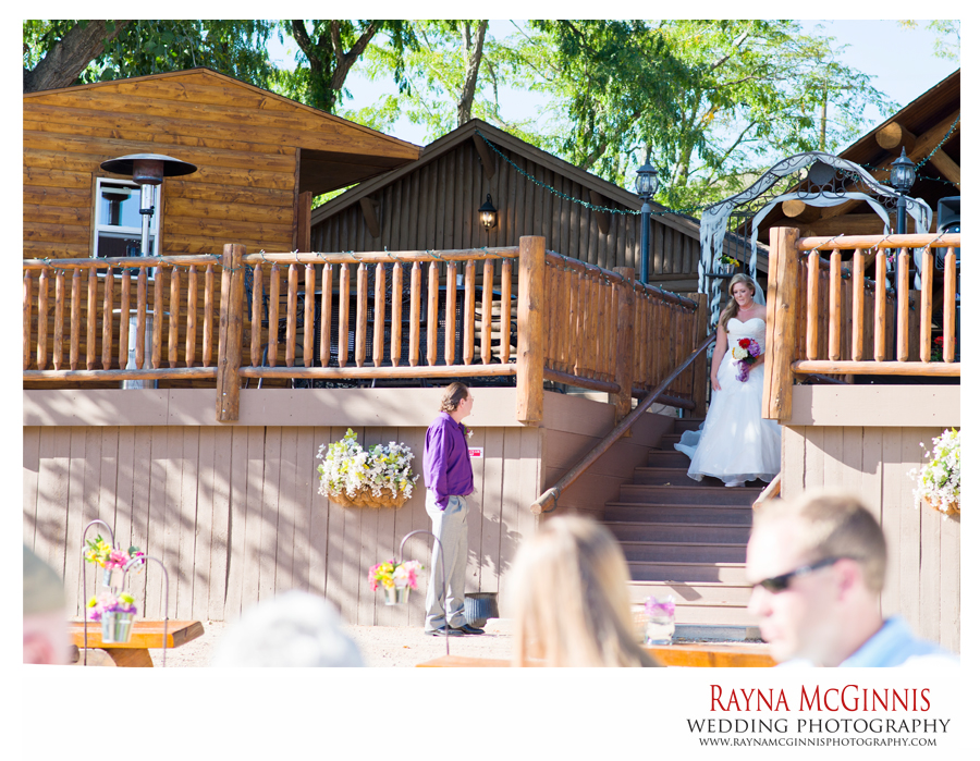 Bride at Wedding Ceremony at Ellis Ranch, Ellis Ranch Wedding Photography