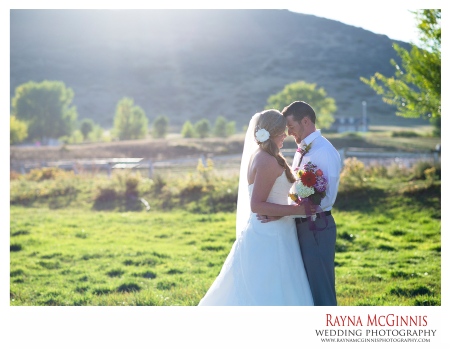 Beautiful Ellis Ranch Wedding Photography at sunset