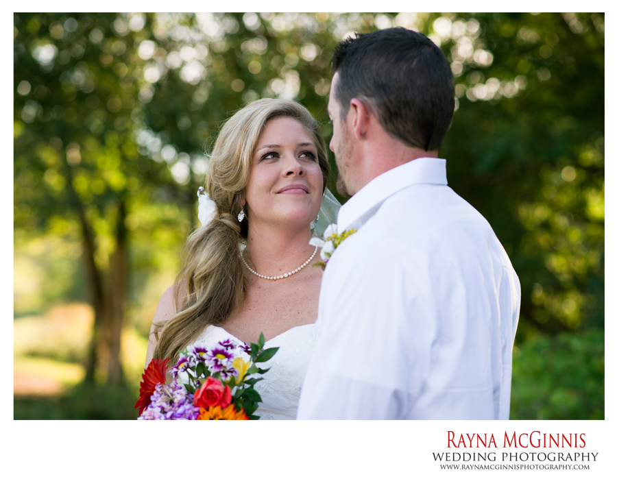 Ellis Ranch Wedding Photography of Bride looking at Groom