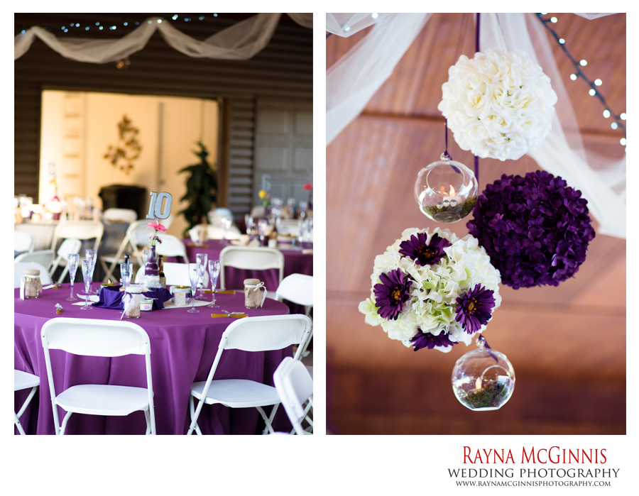 Ellis Ranch Wedding Photography of reception decorations