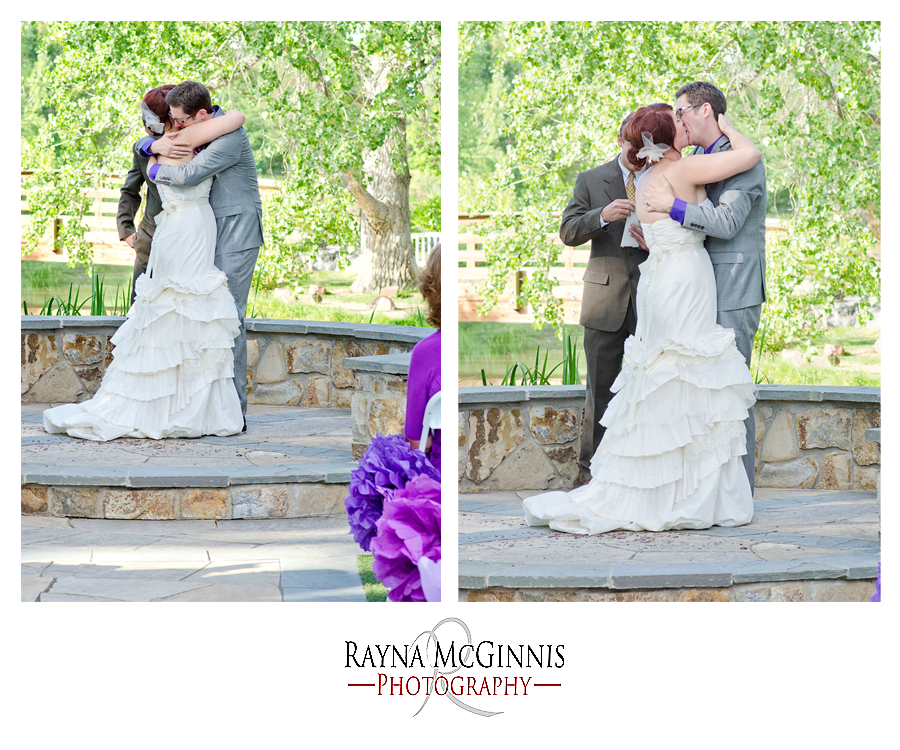 First Kiss - Wedding at Hudson Gardens