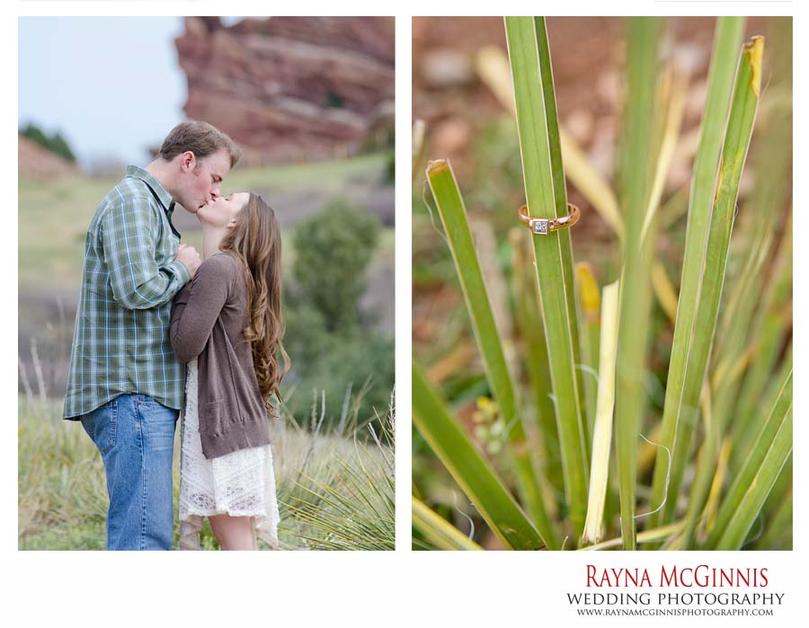 Golden Engagement Photography with Rose Gold Engagement Ring
