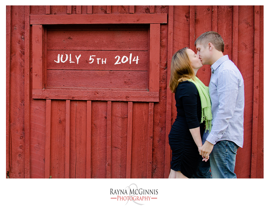 Save the date shot at Clear Creek Trail in Golden Colorado