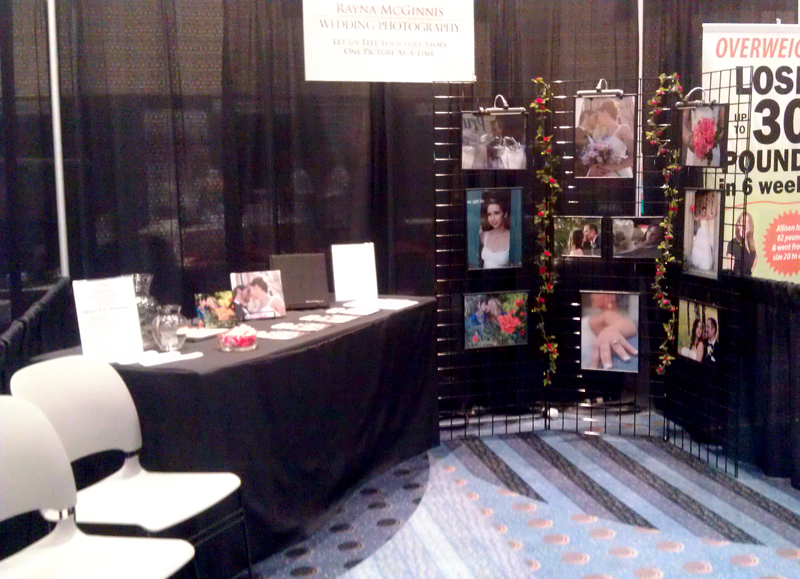 Rayna Mcginnis Photographys booth at the Rocky Mountain Bridal Show