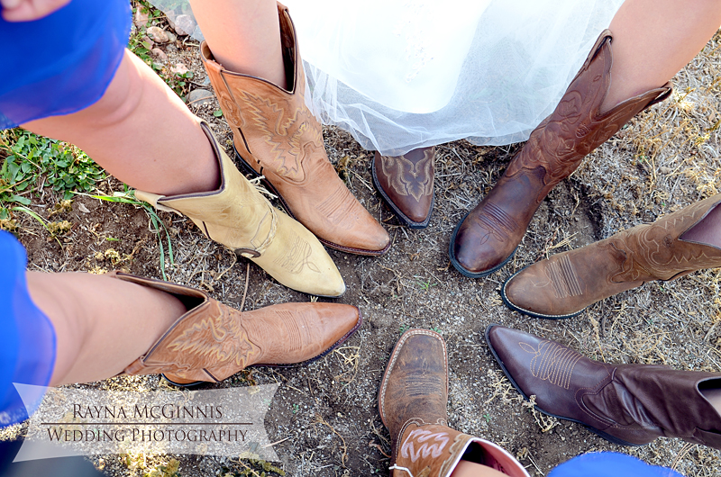 Cowboy boots at Spruce Mountain wedding