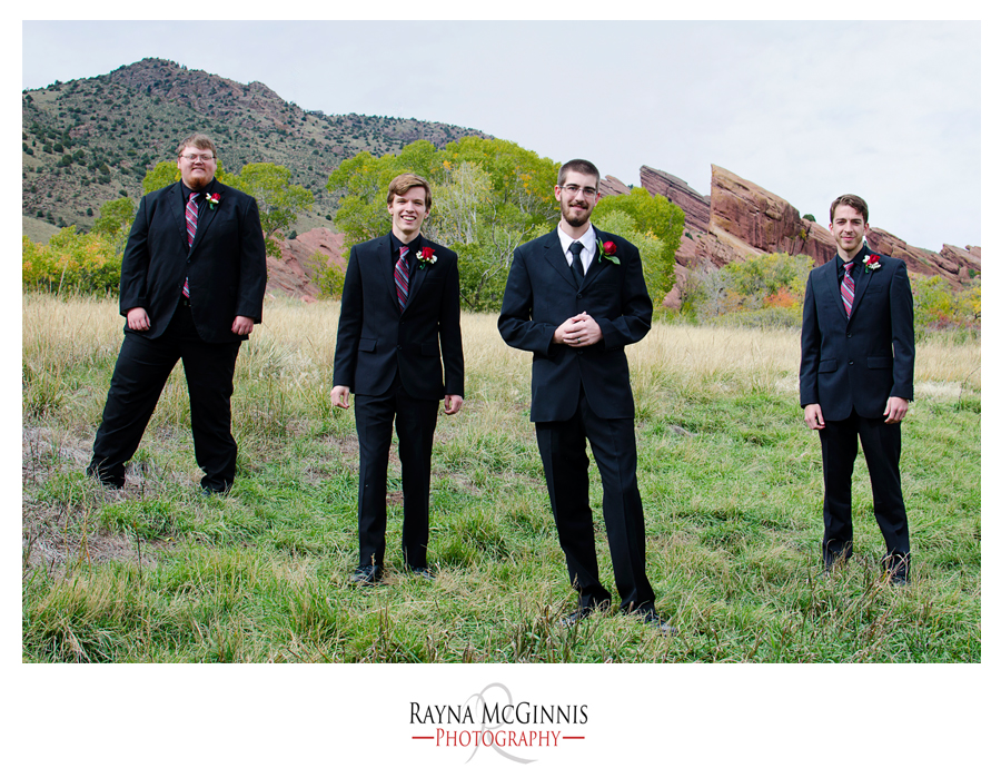 Groomsmen at Red Rocks
