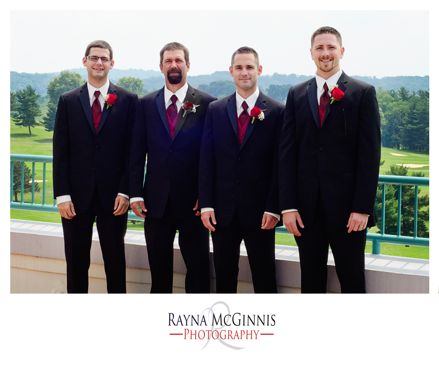 Groomsmen at pittsburgh wedding photography