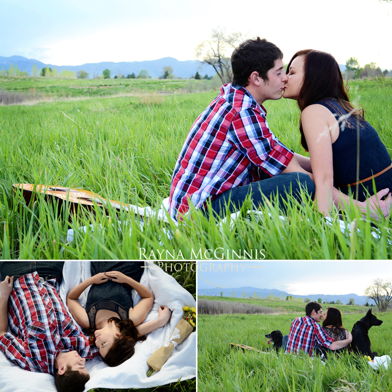 Engagement pictures at Standley Lake in Westminster, Colorado